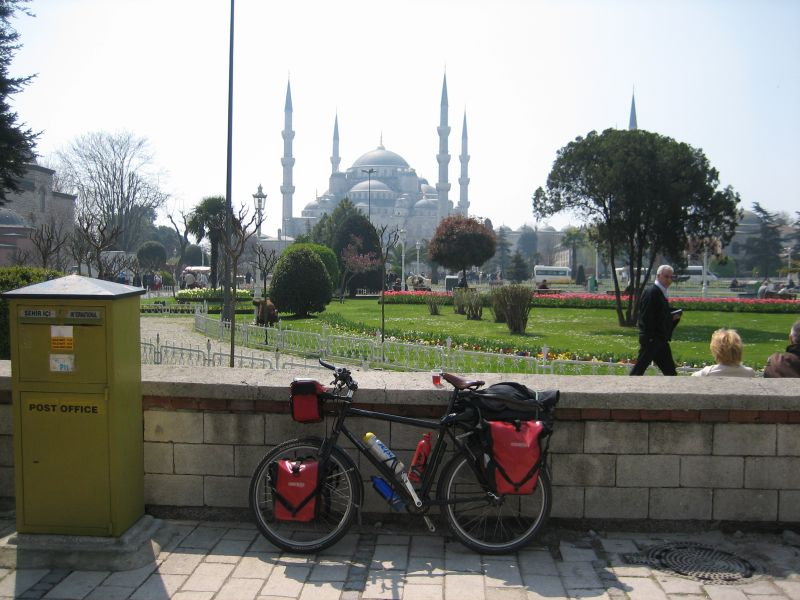 Bike in front of Blue Mosque