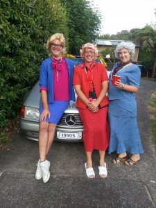 The Golden Girls...even includes one girl!  Check out the plate on the car.
